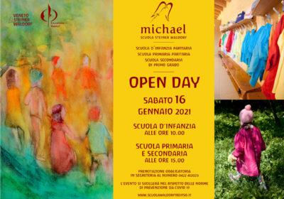Open day <br />Sabato 16 gennaio 2021